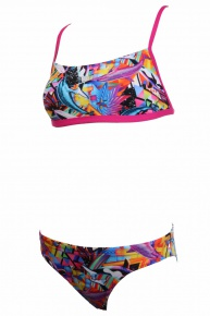 Speedo 2 piece Crossback pink