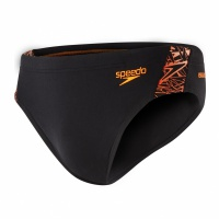 Speedo Boom Splice 7cm Brief Black/Orange