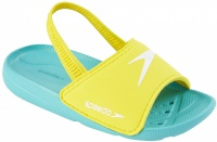 Speedo Atami Sea Squad Slide Infant Bali Blue/Empire Yellow