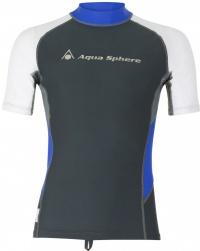 Aqua Sphere Blaze Rash Guard Dark Grey/White