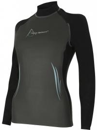 Aqua Sphere Aqua Skin Top Long Sleeve Lady Grey/Black