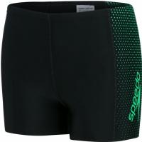 Speedo Gala Logo Panel Aquashort Boy Black/Fake Green