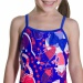 Speedo Shell Bell Bow Suit Girl Amparo Blue/Post It Pink