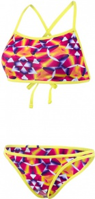 Speedo Rain Splash Flip Reverse 2 Piece Teen Lime Punch/Post It Pink/Fluo Orange