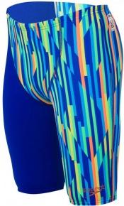 Speedo Fastskin Endurance+ High Waist Jammer Boy Ultrasonic/Fluo Orange/Windsor Blue