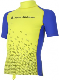Aqua Sphere Bix Rash Guard Bright Green/Royal Blue
