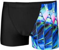 Speedo Fractal Glaze Allover Digital V Panel Aquashort Black/Chroma Blue/Aquasplash