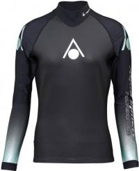 Aqua Sphere Aquaskin Top Long Sleeve Women Black/Turquoise