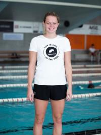 Swimaholic Logo T-Shirt Women White