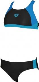 Arena Ren Two Pieces Junior Black/Pix Blue/Turquoise