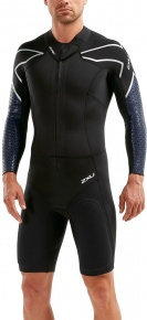 2XU Pro-Swim Run SR1 Wetsuit Black/Blue Surf Print