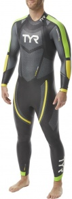 Tyr Hurricane Wetsuit Cat 5 Men Black/Green/Yellow
