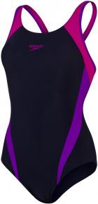 Speedo Splice Muscleback True Navy/Violet/Diva