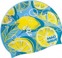 Mad Wave Lime Swim Cap