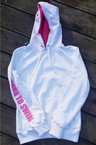 BornToSwim Sweatshirt Hoodie Junior White/Pink